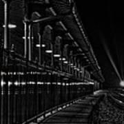 Train At Night Art Print