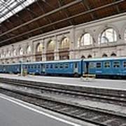 Train At Station Platform Budapest Hungary Art Print