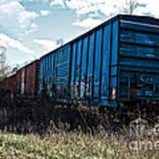 Train Boxcars Art Print