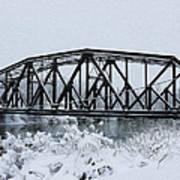 Train Bridge Over The Genesee River Art Print