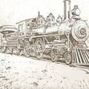 Train Drawing Art Print