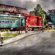 Train - Engine - Black River Western Art Print