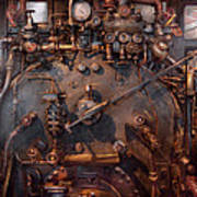 Train - Engine - Hot Under The Collar  Art Print by Mike Savad