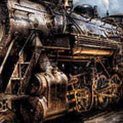 Train - Engine -  Now Boarding Art Print by Mike Savad