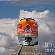 Train In Clouds Art Print