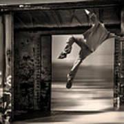 Train Jumping Art Print