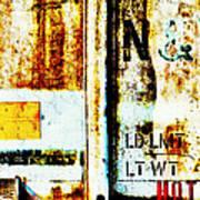 Train Plate 4 Art Print by April Lee
