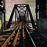 Train Rail Bridge  Art Print