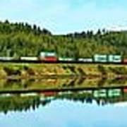 Train Reflecting Art Print