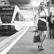 Train Station - Waiting Art Print