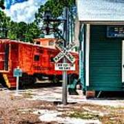 Train Station In Hdr Art Print