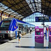 Train Station Marseille France Art Print