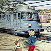 Train Stop At The Diner Art Print by Chris Dreher