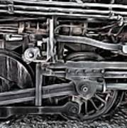 Train - The Wheels Are Turning  Art Print