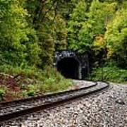 Train Tunnel Art Print
