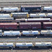 Train Wagons, South Portland Art Print