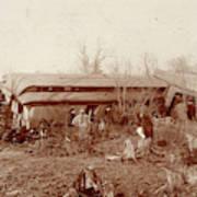 Train Wreck, 1890s Art Print