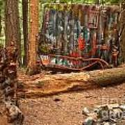Train Wreck Along The Cheakamus River Art Print