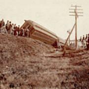 Train Wreck, C1900 Art Print