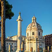 Trajans Column - Rome Art Print