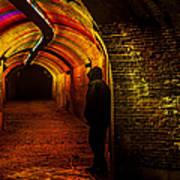 Trajectum Lumen Project. Ganzenmarkt Tunnel 9. Netherlands Art Print