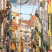 Tram, Barrio Alto, Lisbon, Portugal Art Print