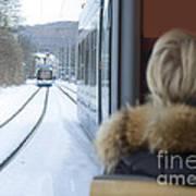 Tram In Winter Art Print