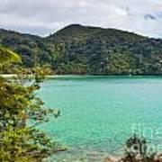Tranquil Bay In Abel Tasman Np In New Zealand Art Print