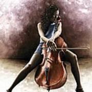 Tranquil Cellist Art Print