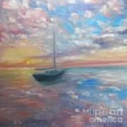 Tranquil Ocean Sunset Art Print