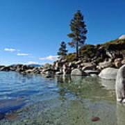 Tranquil Tahoe Beach Art Print