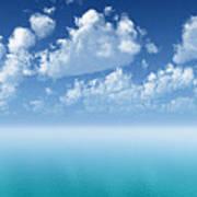 Tranquil Turquoise Ocean Art Print
