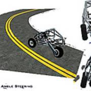 Transformer Transporter Motorcycle Turn Art Print