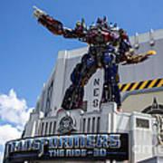 Transformers The Ride 3d Universal Studios Art Print
