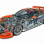 Transparent Car Concept Made In 3d Graphics 10  Art Print