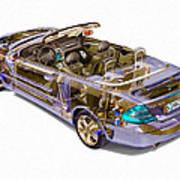 Transparent Car Concept Made In 3d Graphics 6 Art Print