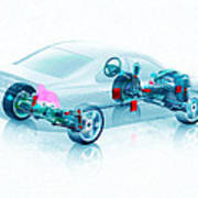 Transparent Car Concept Made In 3d Graphics 7 Art Print
