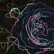 Transparent Rose Art Print