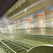 Transparent Trains Art Print