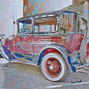 Transportation Grunge Art Print