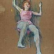 Trapeze Artist At The Medrano Circus Art Print