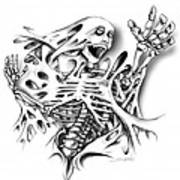 Trapped Skeleton By Spano Art Print