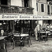 Trattoria In Venice  Art Print by Madeline Ellis
