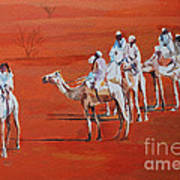 Travel By Camels Art Print