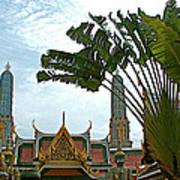 Traveler's Palm At Grand Palace Of Thailand In Bangkok Art Print