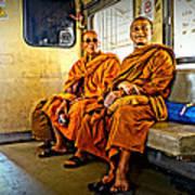 Traveling Monks Art Print