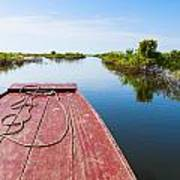 Traveling Through Tonle Sap Lake Art Print
