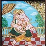 Travelling Ganesh Art Print