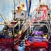 Trawlers In Early Light Art Print