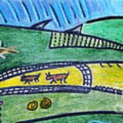 Treasure Hunt Art Puzzle Ocean Art Print